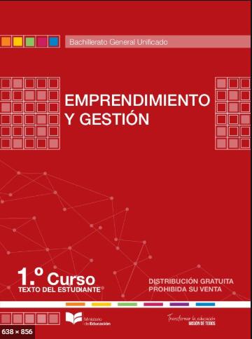 Libro de Emprendimiento y Gestion Primero Bachillerato